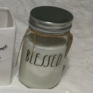 Rae Dunn BLESSED Candle